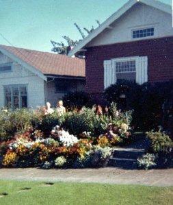 Gram and me in her garden