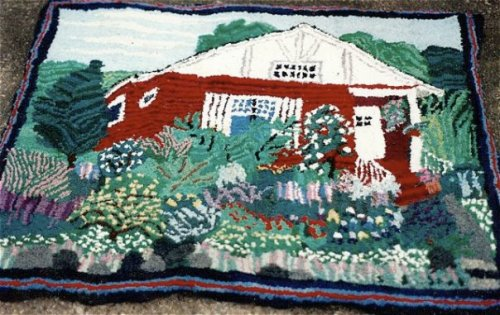 Later when I owned the house and had taken out all the lawn, I hooked a rug showing its wilder state.