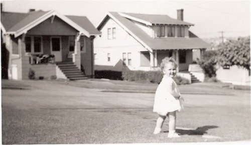 me on the front parking strip, probably 1958