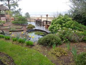 the bay house garden in spring
