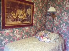 "Oscar Wilde room:  ""Either this wallpaper goes or I do"" (or something like that)"