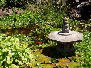 pond lantern