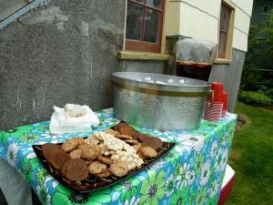 cookies and bottled water