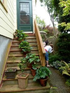 the side door stairs
