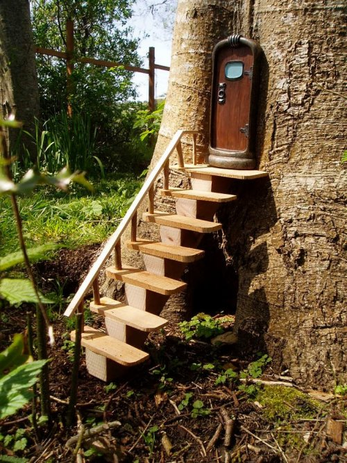 fairy door with stairs