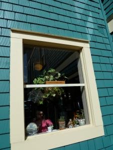 window by front door