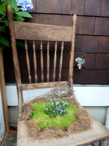 another planted chair