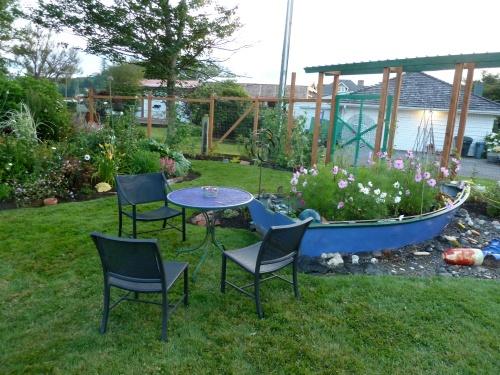 sit spot by garden boat