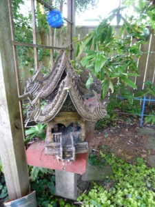 shrine with incense