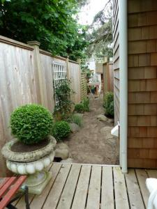 path from deck to potting bench
