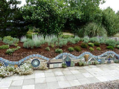 a mosaic wall