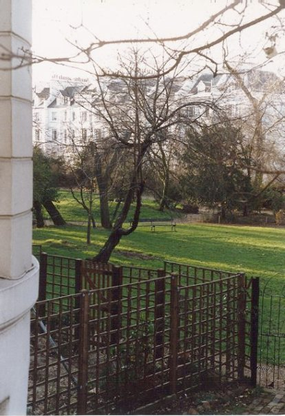 private gardens and park in London
