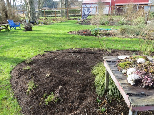 """winter project """"after"""": expanded east and middle bed to the south"""