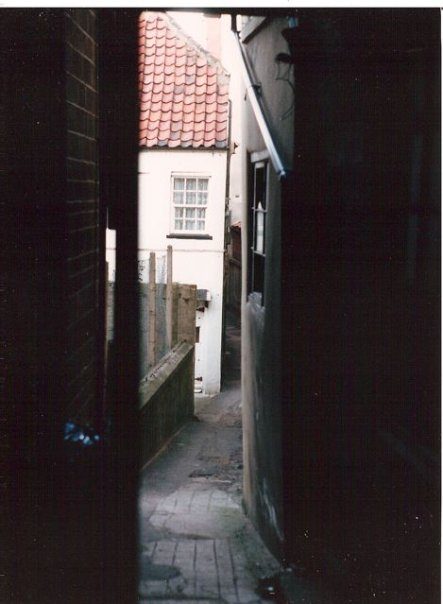 a tiny alley near downtown