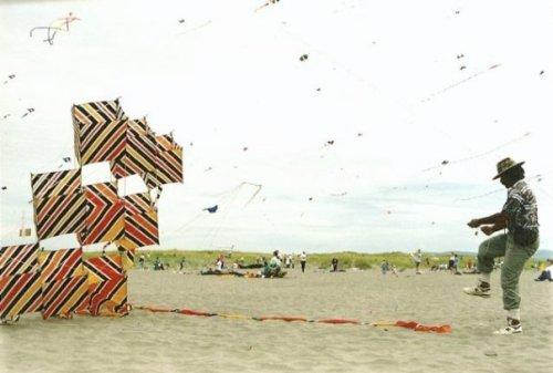 Michael Alvarez and his box kite