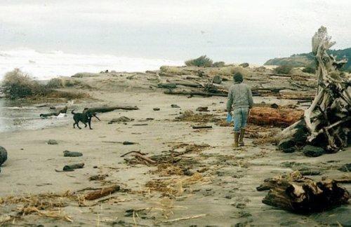 Bertie and Robert on Benson Beach