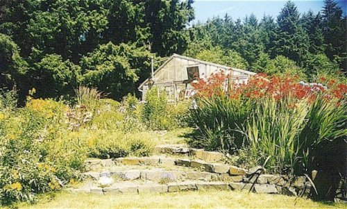 Beth Holland's garden just outside Cannon Beach.