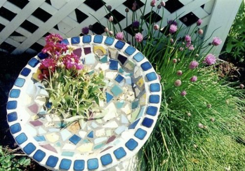 birdbath made by one of Maxine's grandchildren