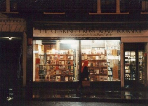 Charing Cross Bookshop by night