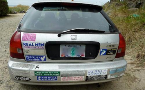 liking the bumper stickers!