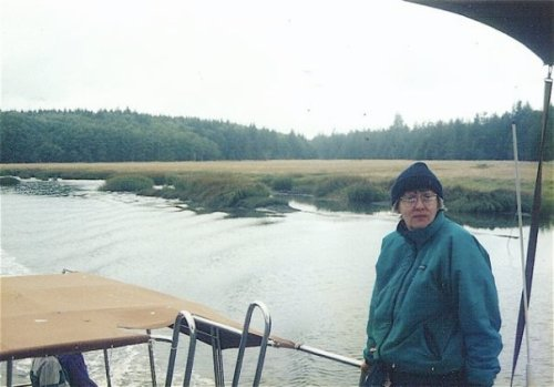 Carol on the Willapa Bay tour boat