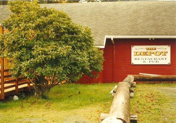 Depot garden before