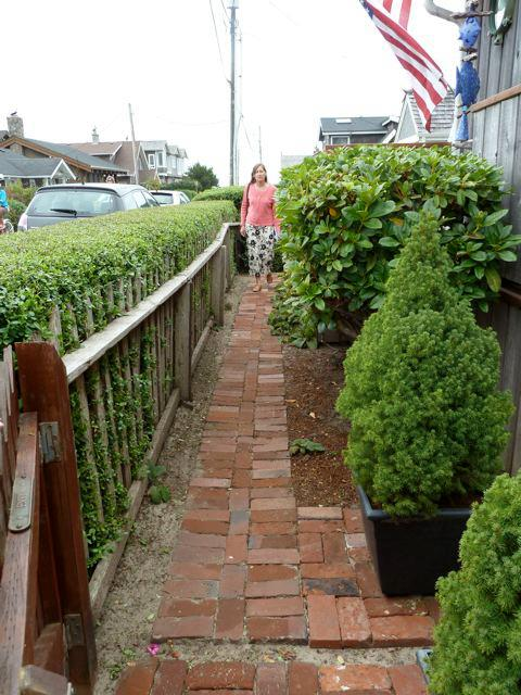 brick path in front