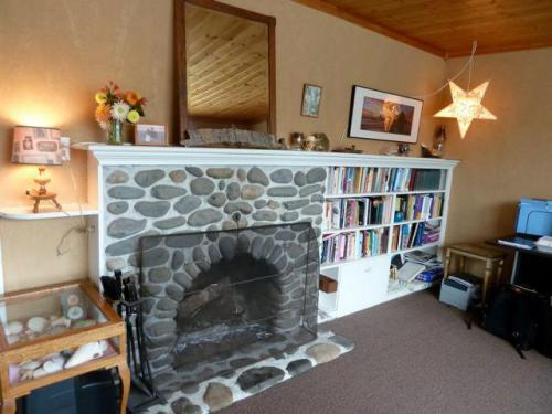 old Cannon Beach cottages often have river rock fireplaces like this.