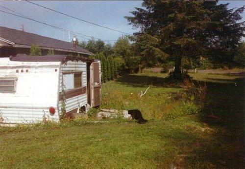 July 1994:  Orson checks out his new garden