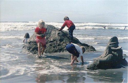 sandcastles awash at end of Sandsations day