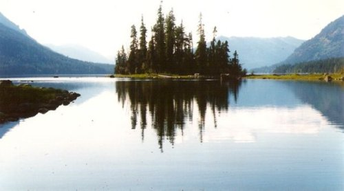 an island on Lake Wenatchee, one of my favourite photos