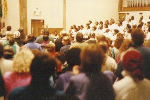 closing ceremony at Mt Zion Baptist Church