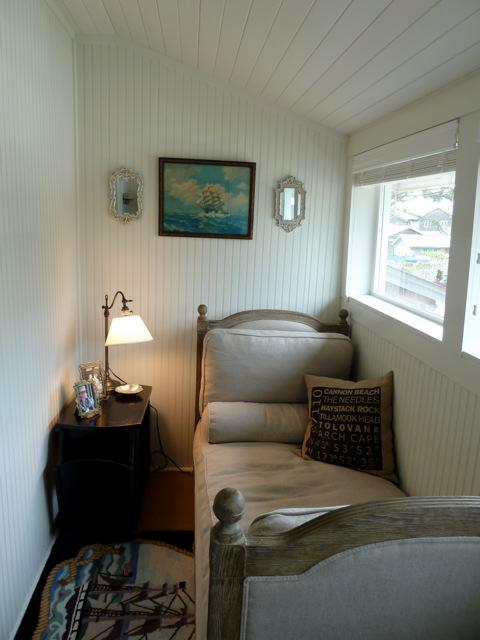 a narrow room