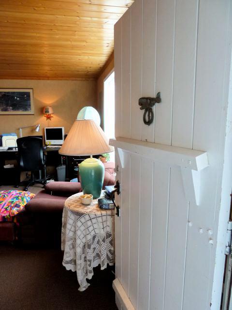 the original front door opening into the living room
