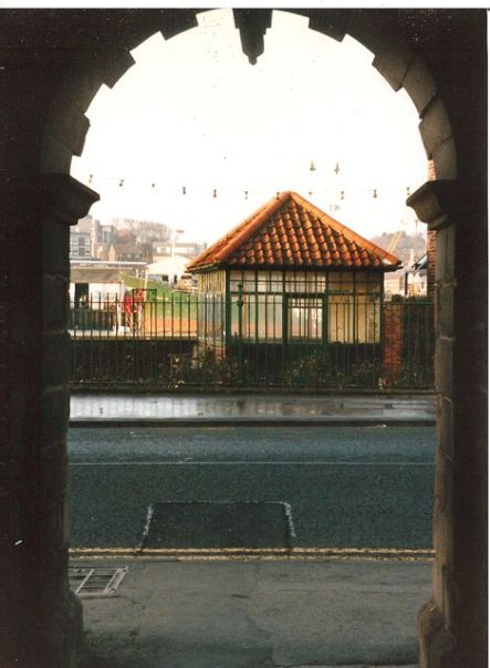 and looking out from their courtyard to the seaman's private park