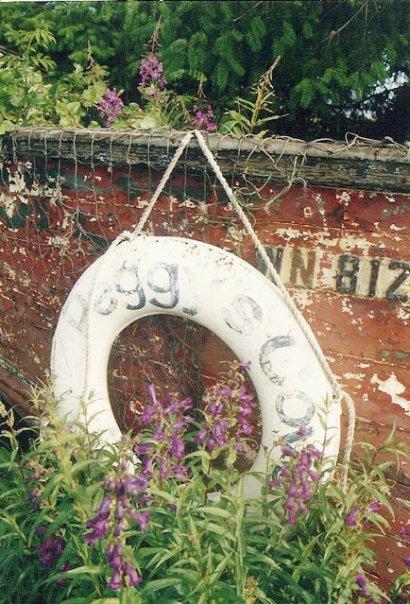 Peggy's Cove garden boat