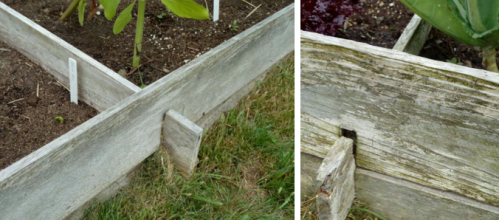 Lincoln log raised bed method