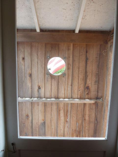 the porch porthole from inside