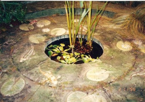 patio made of recycled materials