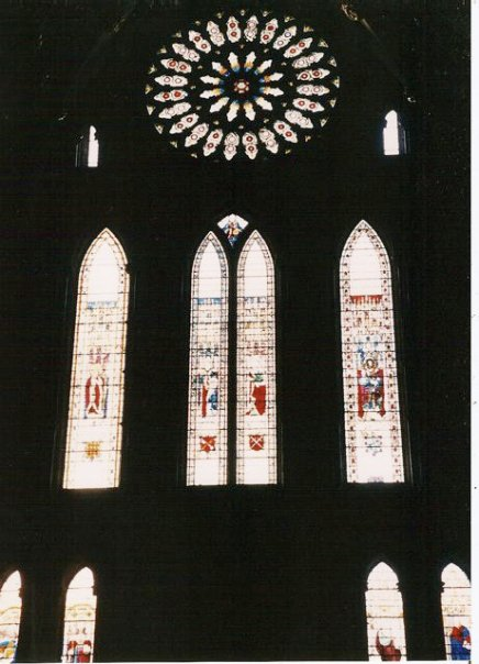 Yorkminster, the rose window, rebuilt in the 1980s after a fire using original techniques and materials