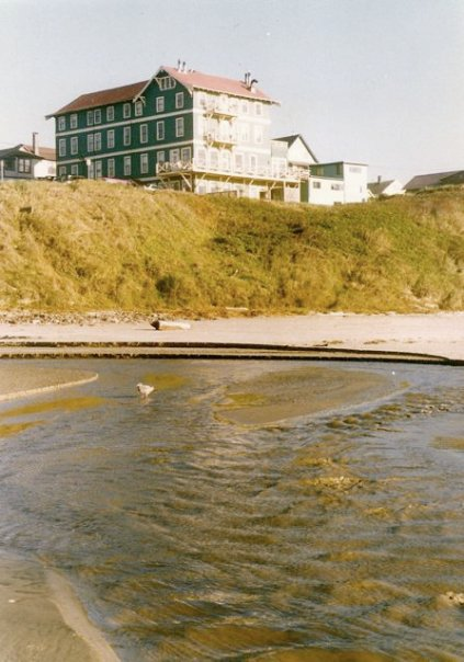 Sylvia Beach Hotel...from the beach at Newport
