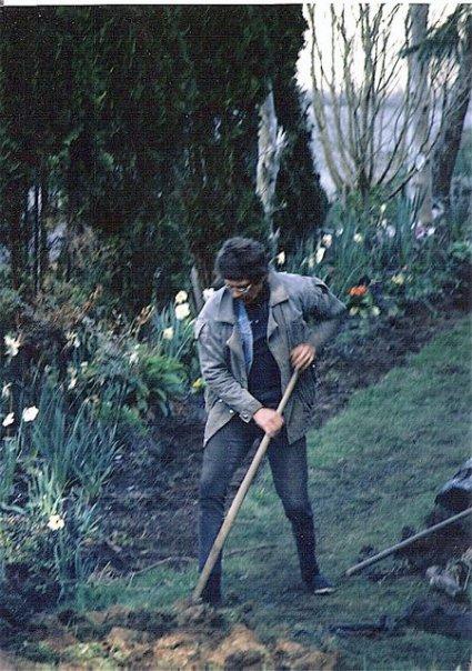 north side of garden, spring '95