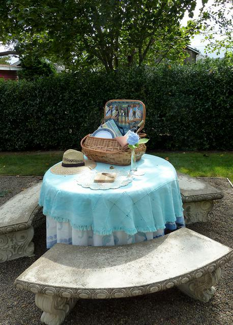 table set for a picnic