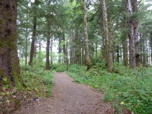 trail, east side Cannon Beach