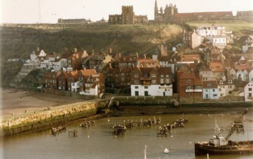 the view toward Whitby Abbey