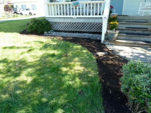 by front walkway