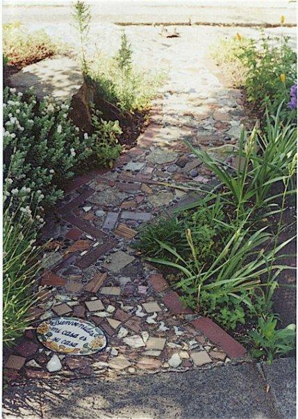 Ballard parking strip garden path