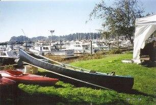 canoe at the port