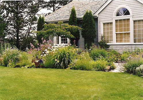 Carol's garden on the bay