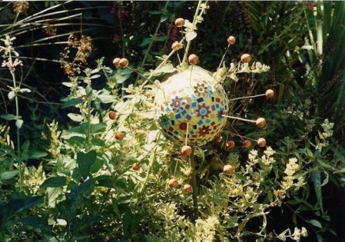 a gew gaw in the Lucy-designed garden